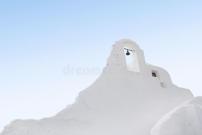 Iglesia Bell de Mykonos imagen de archivo