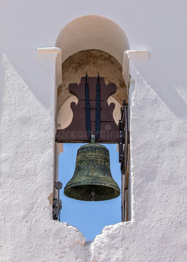 Iglesia Bell, Santiago Church - Igreja de Santiago, Tavira, Portugal foto de archivo libre de regalías