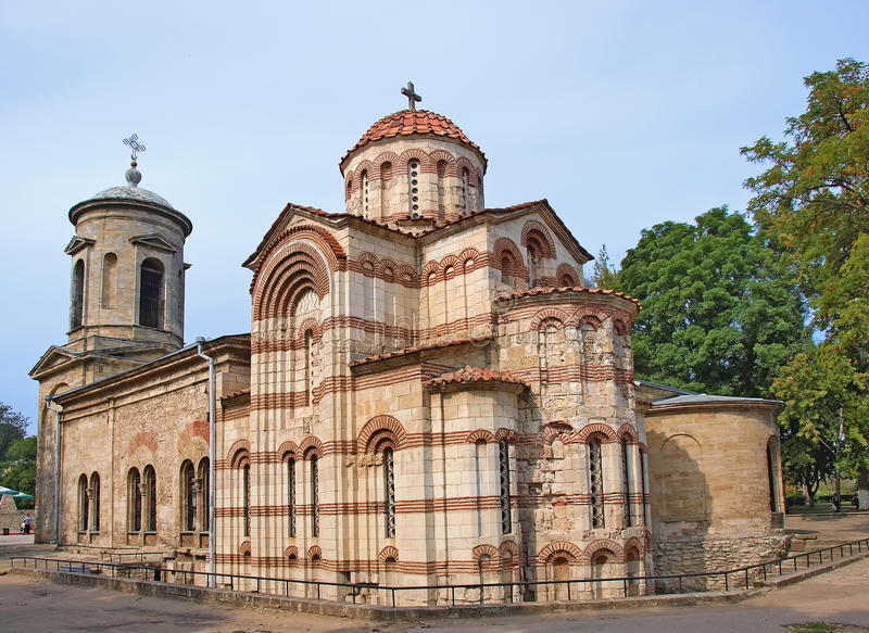 Iglesia bizantina antigua en Kerch, Crimea, Ucrania imagen de archivo