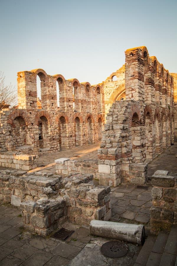 Iglesia bizantina vieja en Nessebar, Bulgaria LA UNESCO fotos de archivo libres de regalías