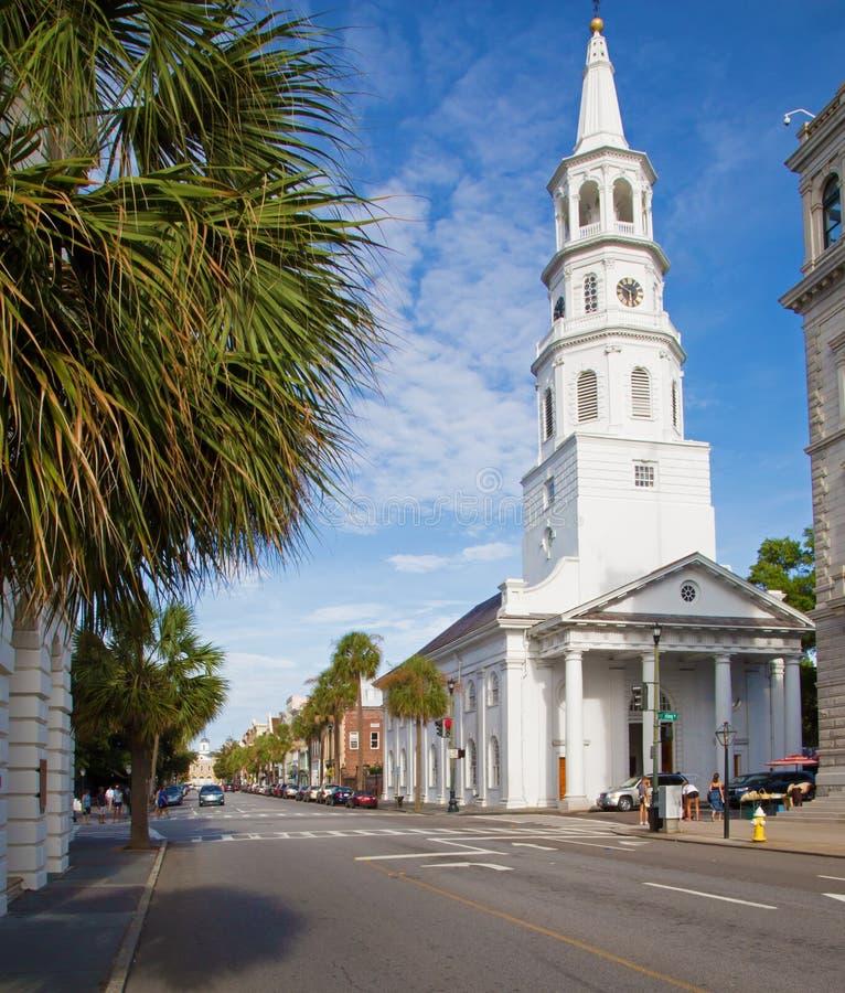 Iglesia blanca hermosa en Charleston, Carolina del Sur foto de archivo libre de regalías