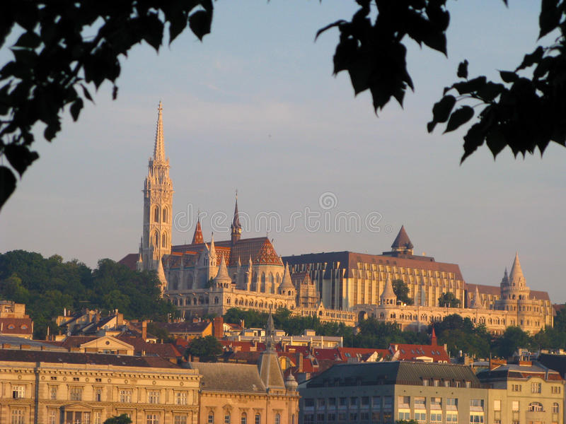 Iglesia Budapest del St. Matías imagen de archivo