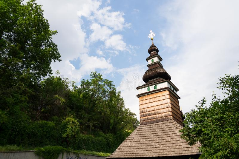 Iglesia cárpata de Ruthenian del santo Michael Archangel, Petrin, República Checa imagen de archivo libre de regalías