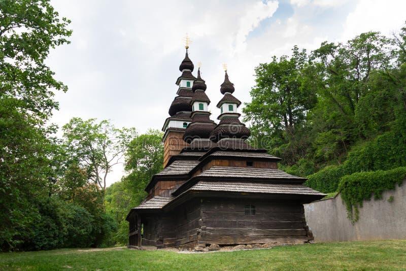 Iglesia cárpata de Ruthenian del santo Michael Archangel, Petrin, República Checa foto de archivo libre de regalías