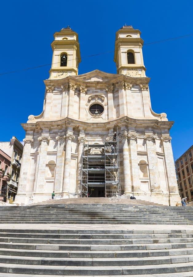 Iglesia Cagliari, isla de Cerdeña, Italia del ` s de St Anne fotos de archivo