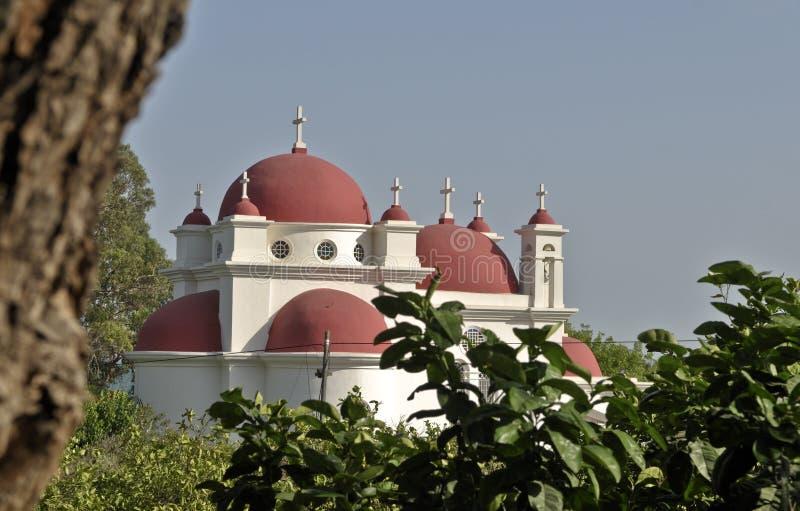 Iglesia Capernaum foto de archivo libre de regalías
