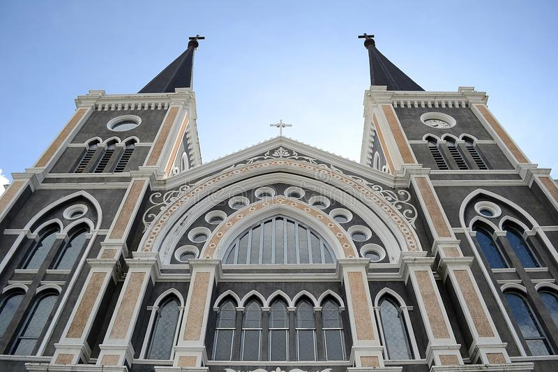 Iglesia católica Chanthaburi fotos de archivo libres de regalías