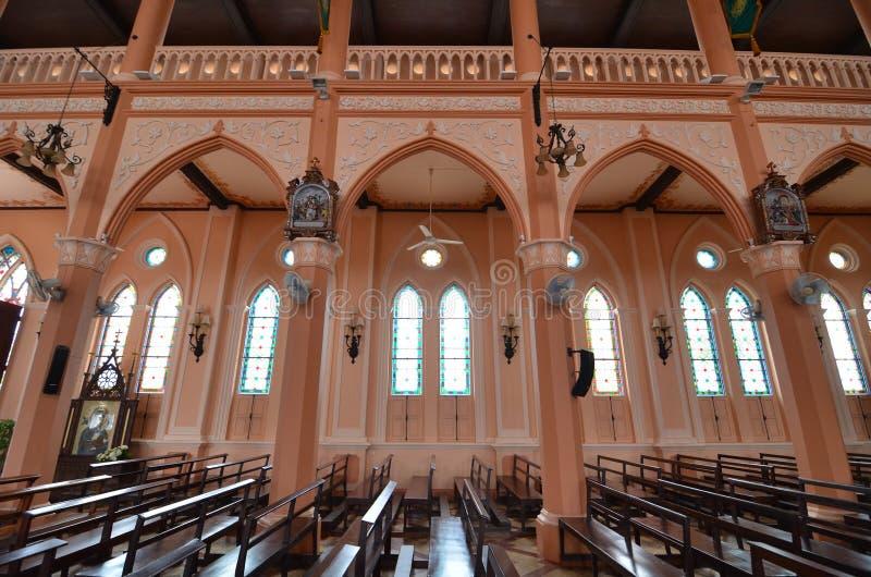 Iglesia católica de la edad avanzada en Tailandia fotografía de archivo libre de regalías