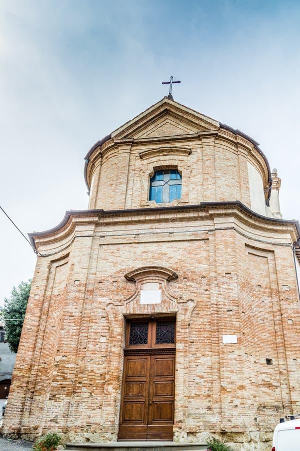 Iglesia católica de San Silvestro en Bertinoro en Italia fotos de archivo
