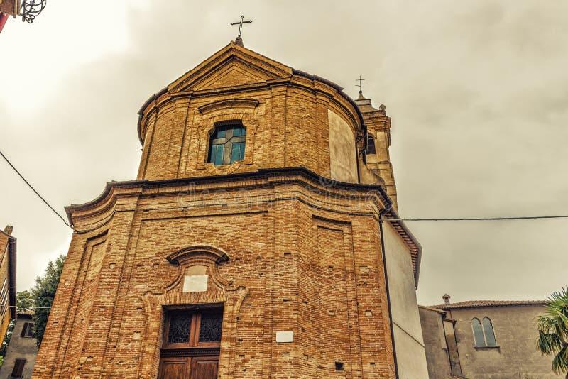 Iglesia católica de San Silvestro en Bertinoro en Italia fotos de archivo libres de regalías
