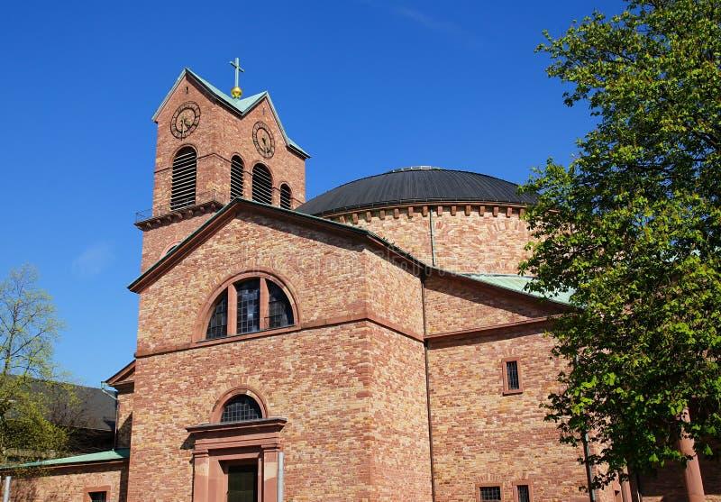 Iglesia católica de St Stephen en Karlsruhe fotografía de archivo