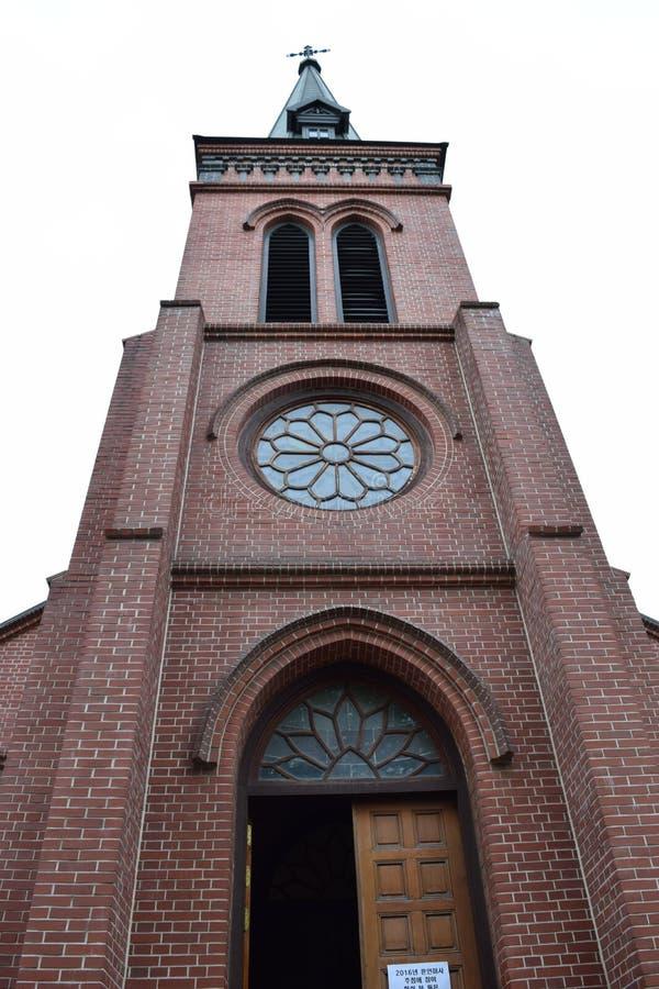 Iglesia católica de Yakhyeon fotografía de archivo