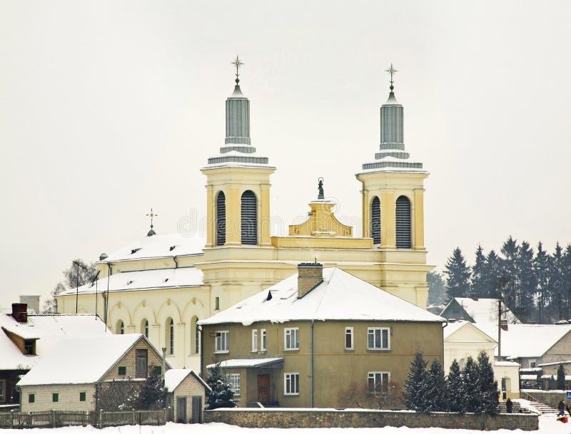 Iglesia católica del St Wenceslaus en Vawkavysk belarus imagen de archivo