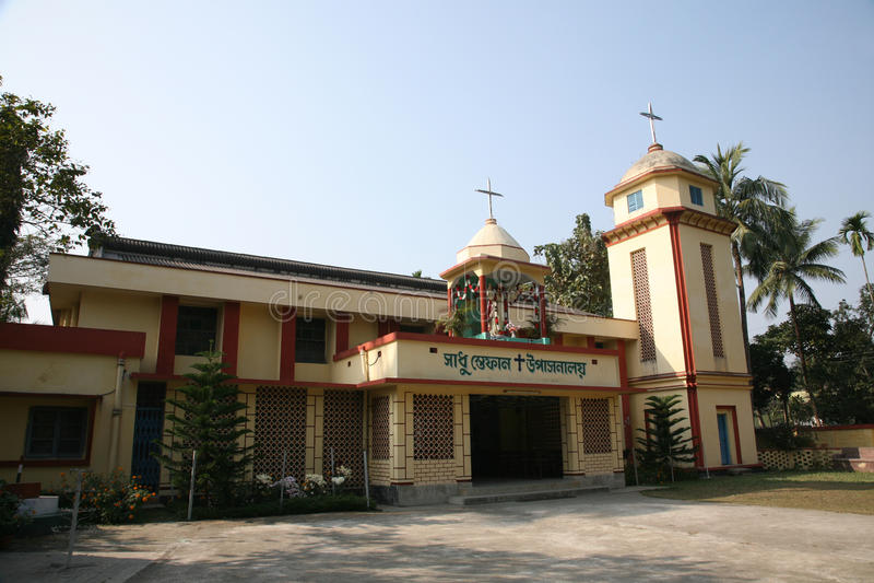 Iglesia católica en Bamanpukur, Bengala Occidental fotos de archivo