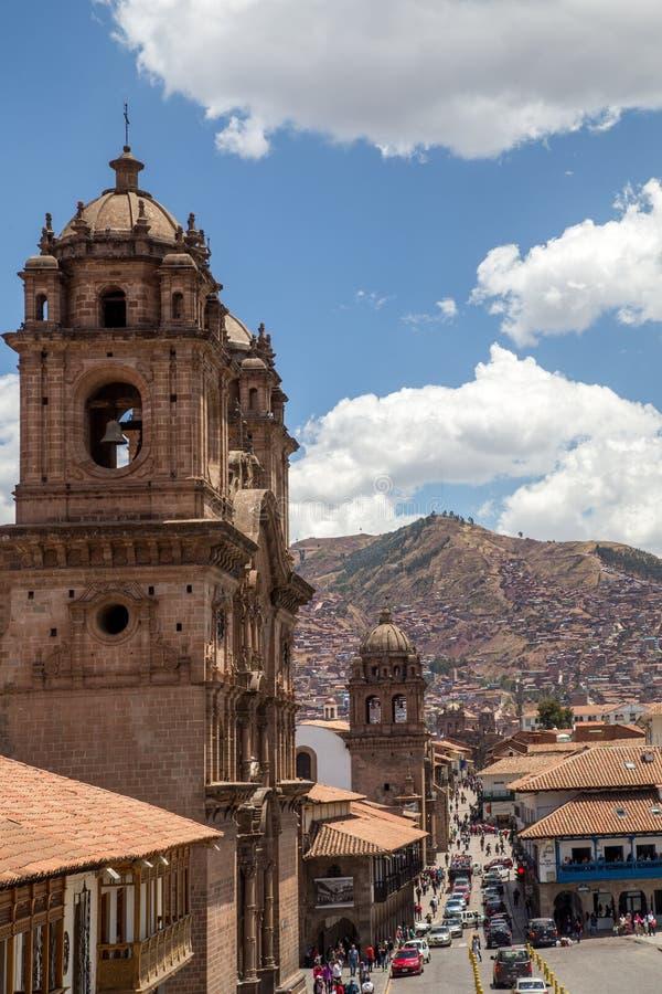 Iglesia católica en Cusco, Perú imagen de archivo libre de regalías