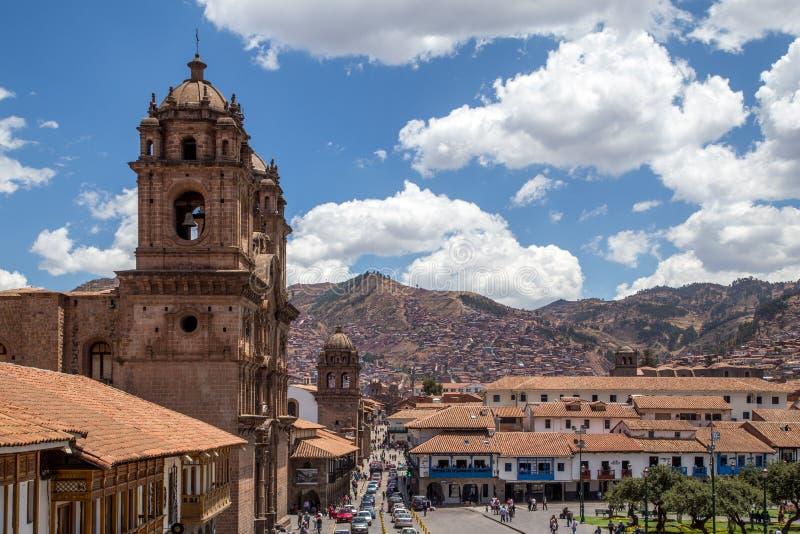 Iglesia católica en Cusco, Perú imagenes de archivo