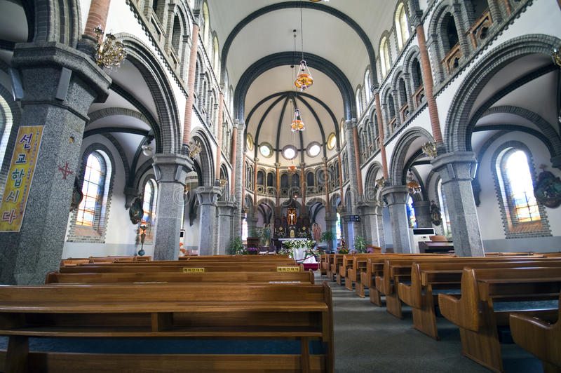 Iglesia católica en el Sur Corea fotografía de archivo