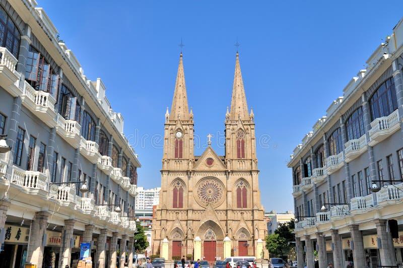 Iglesia católica en Guangzhou, China imágenes de archivo libres de regalías
