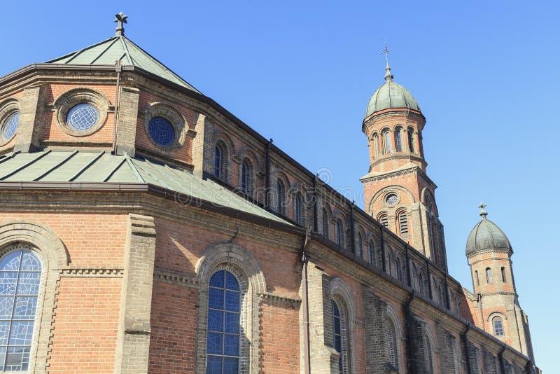 Iglesia católica en Jeonju fotos de archivo