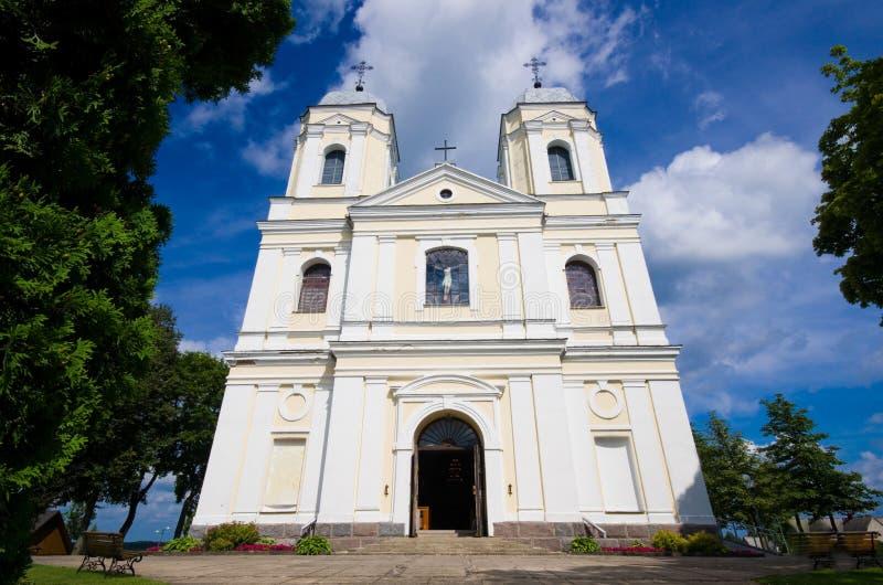Iglesia católica en Moletai, Lituania fotos de archivo libres de regalías