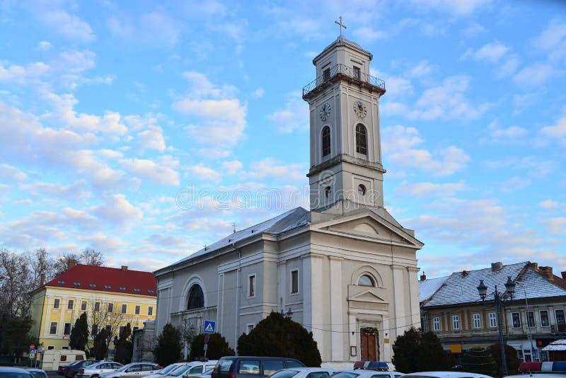 Iglesia católica griega de Lugoj foto de archivo