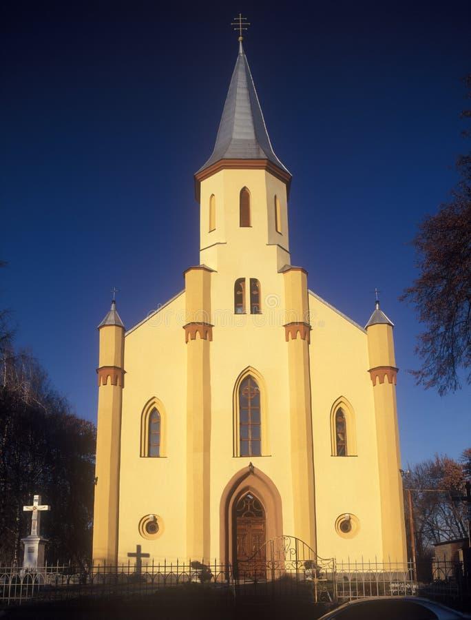 Iglesia católica griega ucraniana en Tyachiv. imagen de archivo libre de regalías