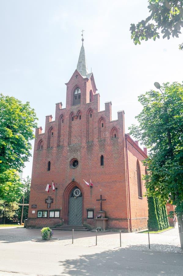 Iglesia católica romana de la transfiguración del señor foto de archivo