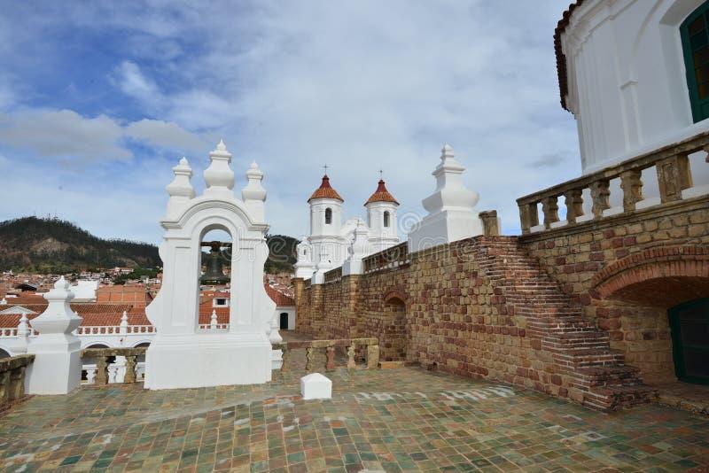 Iglesia Católica Romana en Bolivia, Catedral Metropolitana de Sucre foto de archivo libre de regalías