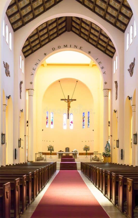 Iglesia Catedral de San Agustin de Talca foto de archivo