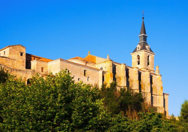 Iglesia colegial de San Pedro en Lerma fotos de archivo