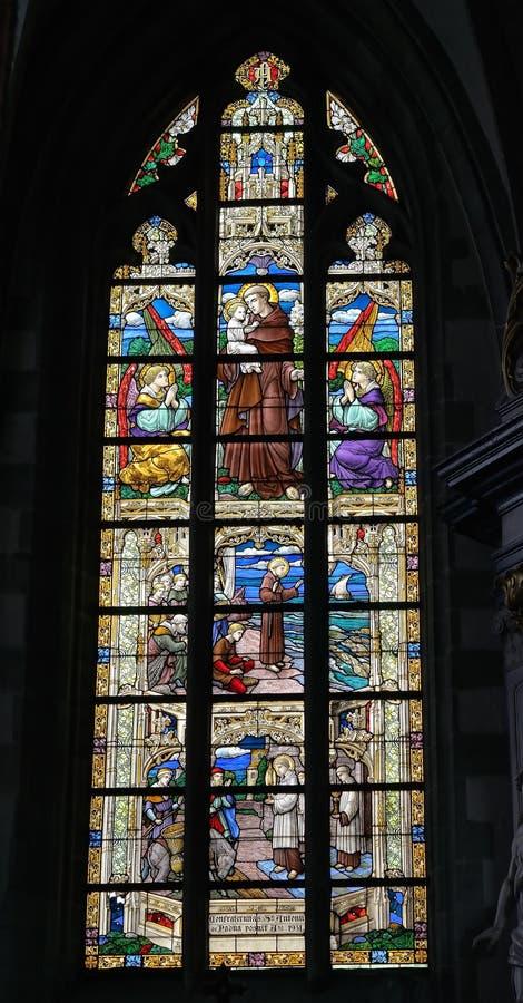 Iglesia colegial San Martín en Aalst foto de archivo