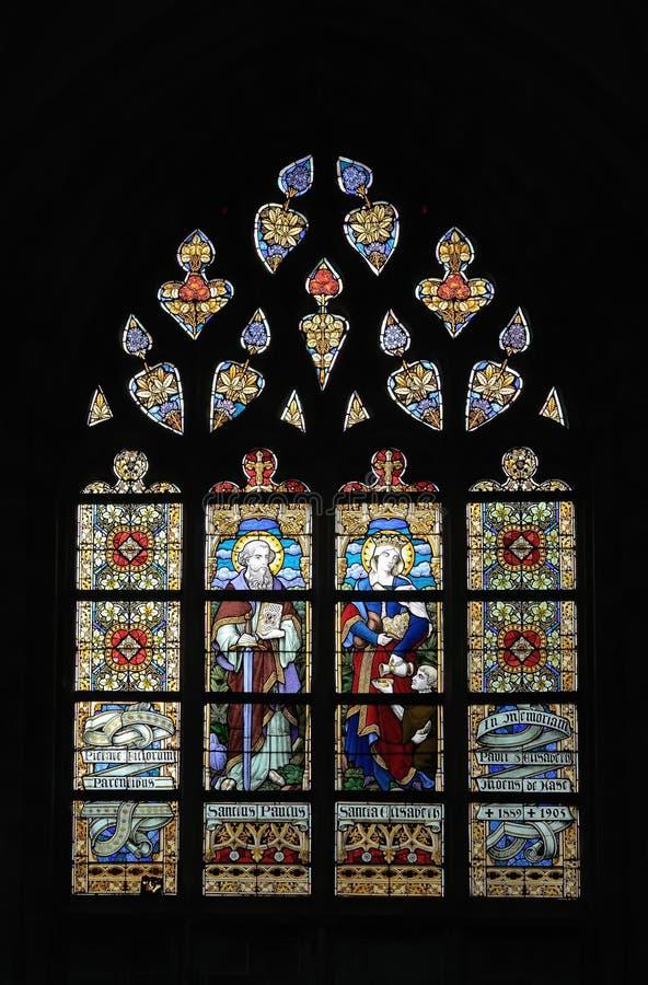 Iglesia colegial San Martín en Aalst fotografía de archivo libre de regalías