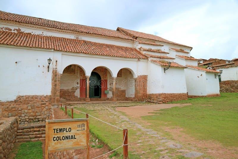 Iglesia Colonial de Chinchero, l'église sur la haute altitude de la ville de Chinchero, Cuzco, Pérou photo libre de droits