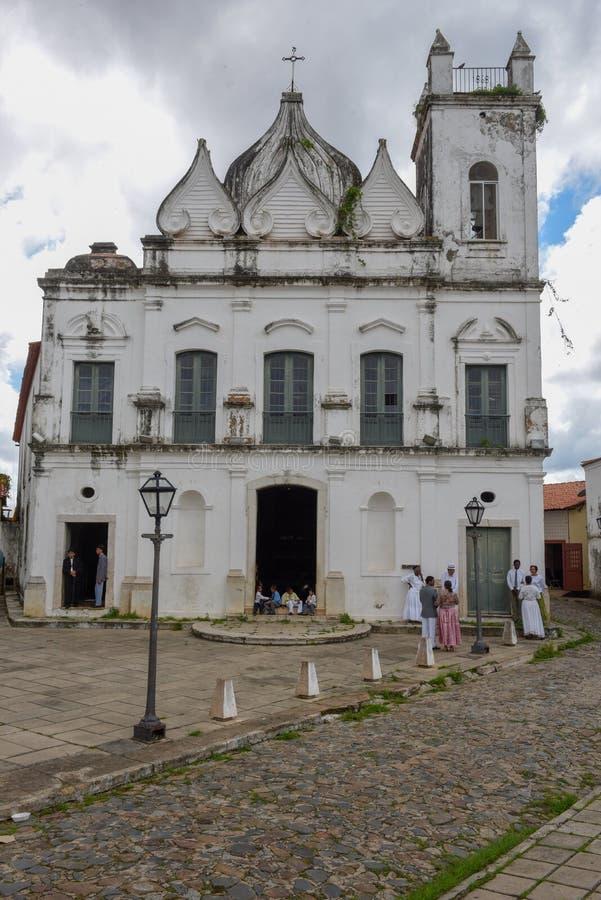 Iglesia colonial en el sao Luis en el Brasil fotos de archivo libres de regalías