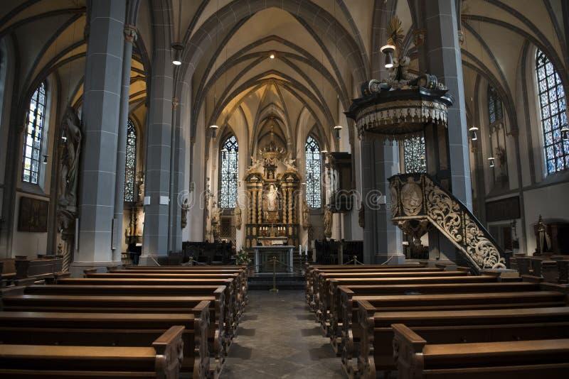 Iglesia Düsseldorf del St Lamberto fotos de archivo libres de regalías