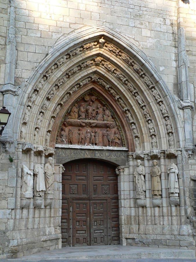 Iglesia de圣埃斯特万,布尔戈斯(西班牙) 免版税库存图片