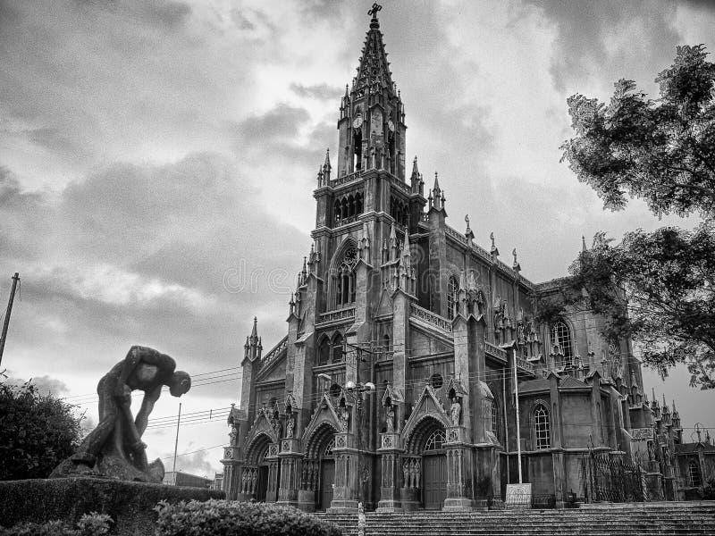 Iglesia de科罗纳多或教会科罗纳多在VÃ ¡ squez d城市 库存照片