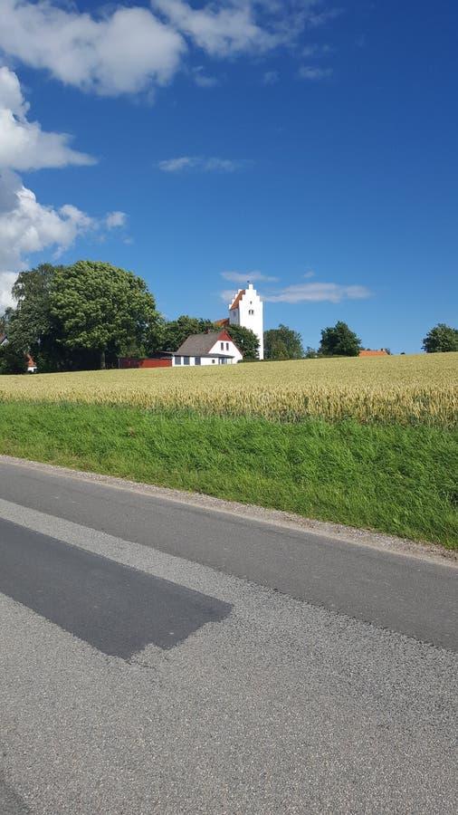 Iglesia de Ørslev fotografía de archivo libre de regalías