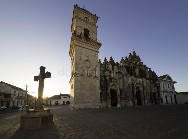 Iglesia de Ла Merced, Гранада, Никарагуа стоковые фотографии rf