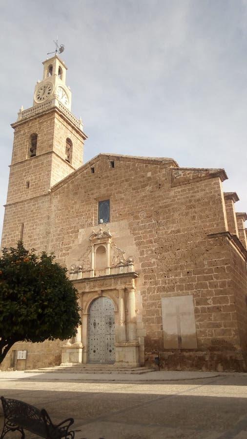 Iglesia de Albaida y de x28; Valencia& x29; y x28; Spain& x29; fotografía de archivo