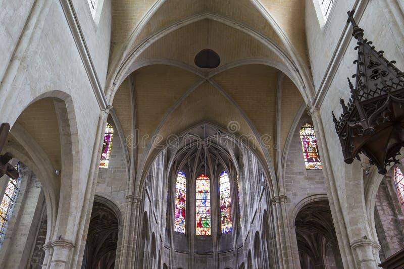 Iglesia de Antoine del santo, Compiegne, Oise, Francia fotografía de archivo