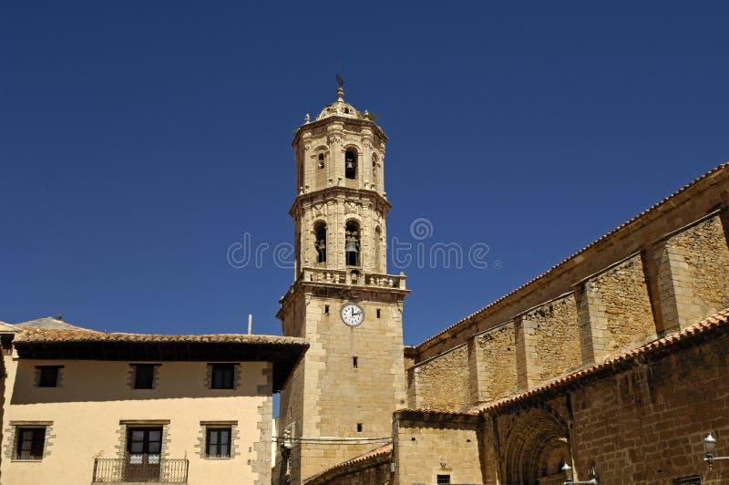 Iglesia de Asuncion del La, provincia de Mosqueruela, Teruel, Aragón, España foto de archivo