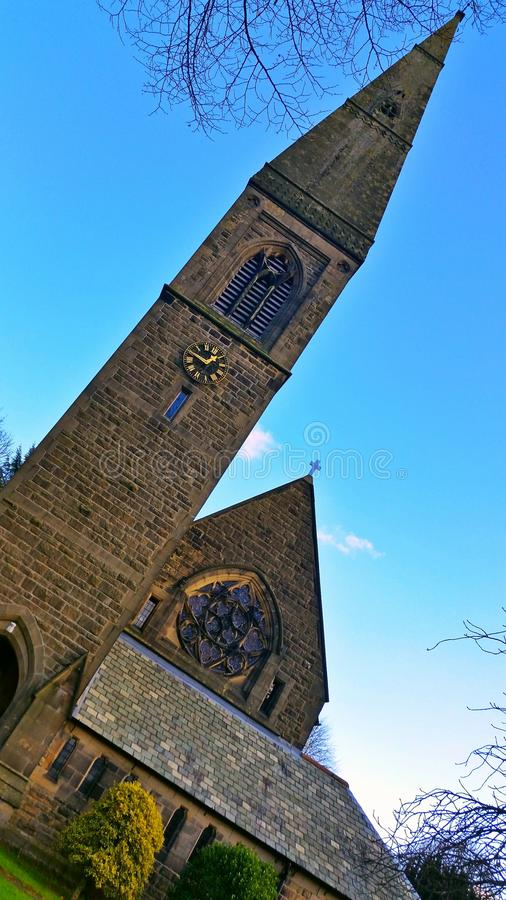 Iglesia de Bamford fotografía de archivo