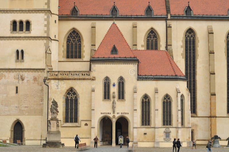 Iglesia de Bardejov (basílica) de St Gil fotografía de archivo libre de regalías