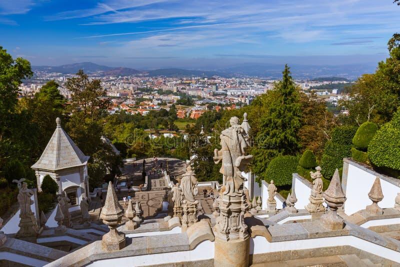 Iglesia de Bom Jesús en Braga - Portugal imagenes de archivo