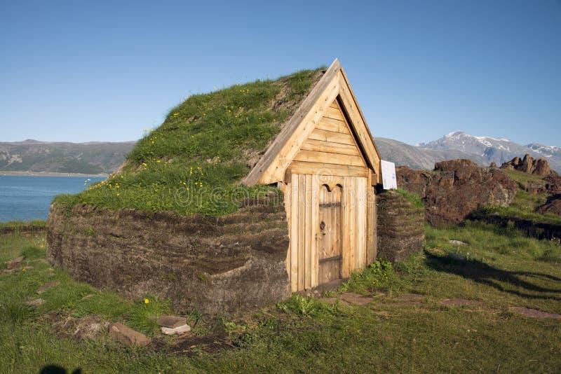 Iglesia de Brattahlid groenlandia Hola res foto de archivo libre de regalías