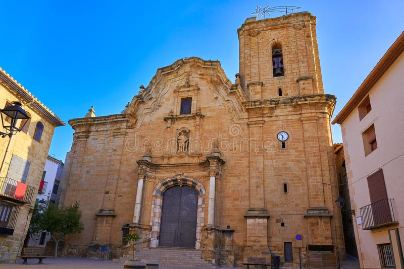 Iglesia de Cabanes de Castellon en España imagen de archivo