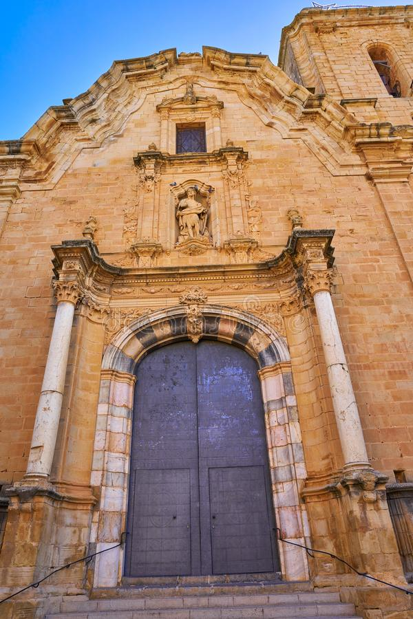 Iglesia de Cabanes de Castellon en España imagen de archivo libre de regalías
