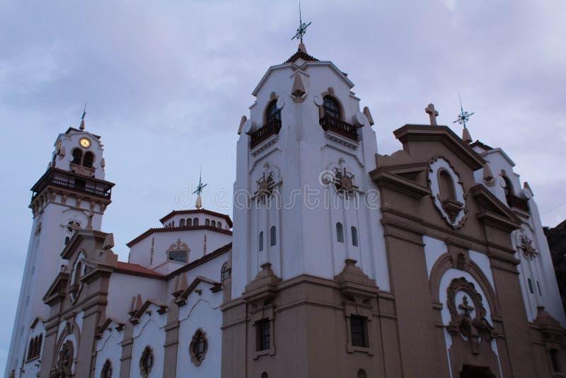 Iglesia de Candelaria en la isla de Tenerife imagen de archivo libre de regalías