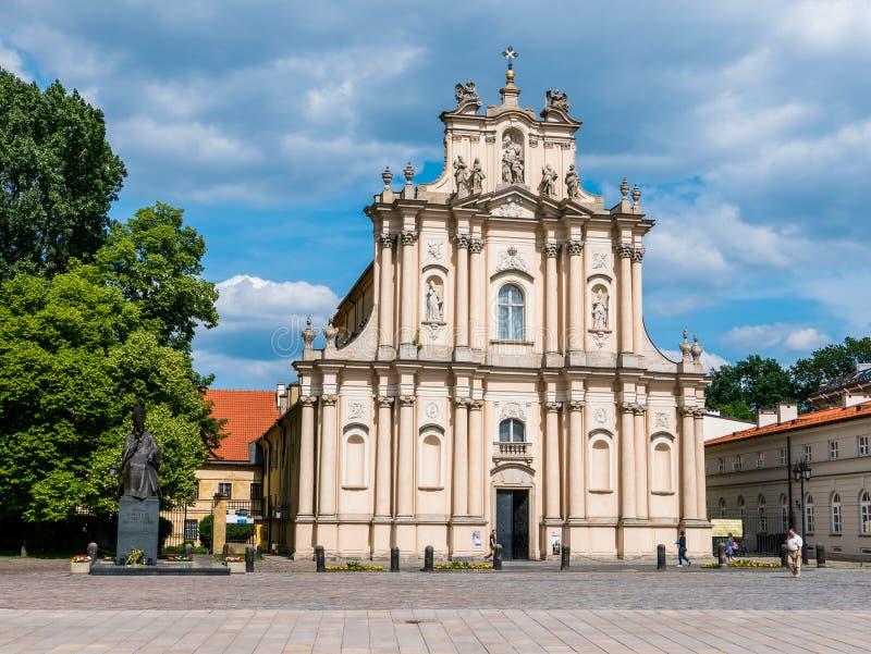 Iglesia de Carmelites, Varsovia, Polonia imágenes de archivo libres de regalías